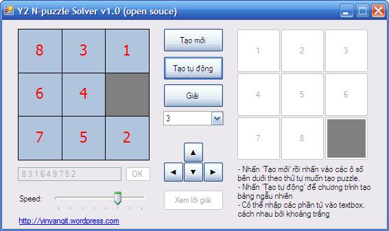Y2 N-puzzle Solver 1.0