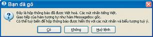 Message Box được Việt hoá