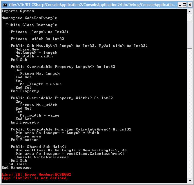CodeDom Example
