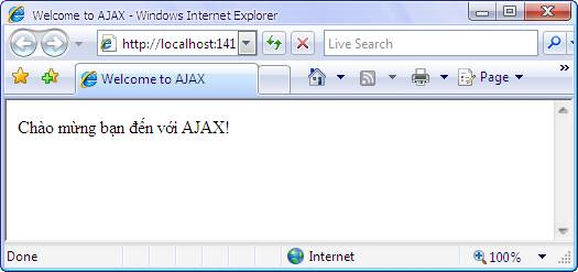 Example illustrates using XMLHttpRequest