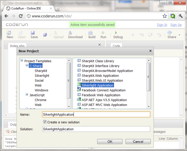 Coderun Online Ide For Web Projects C Php Javascript