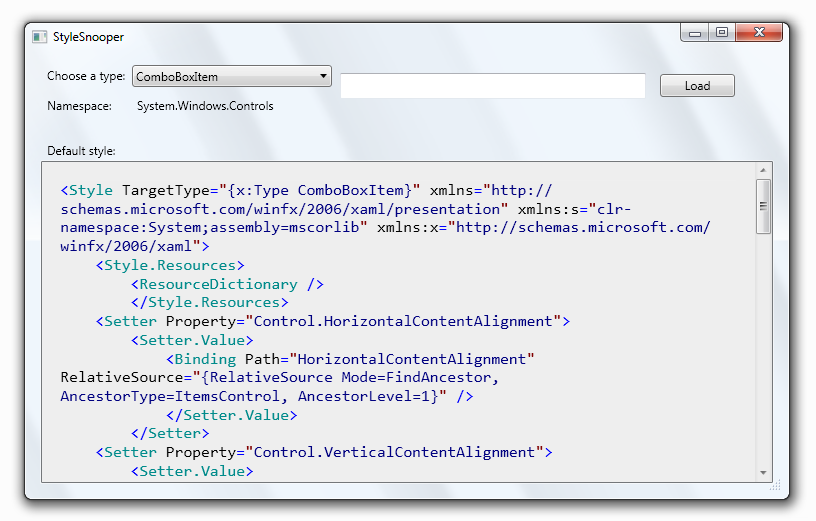 WPF tools – StyleSnooper – Xem Style và ControlTemplate củacontrol