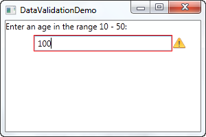 WPF – Data Validation