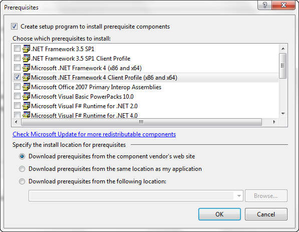Visual Studio-Prerequisites