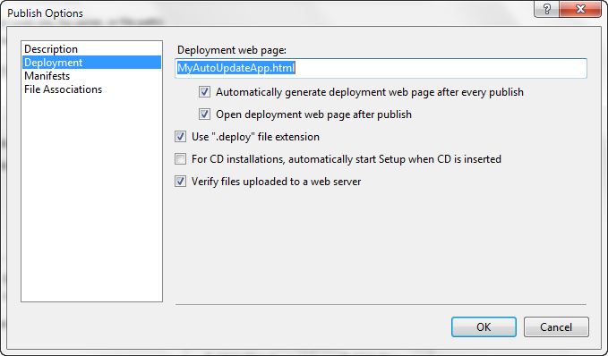 Visual Studio-Publish Options