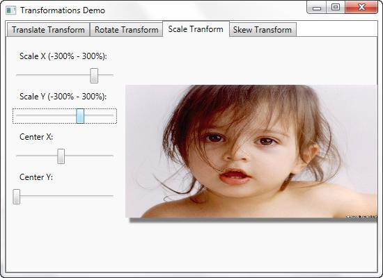 WPF - Scale Transform