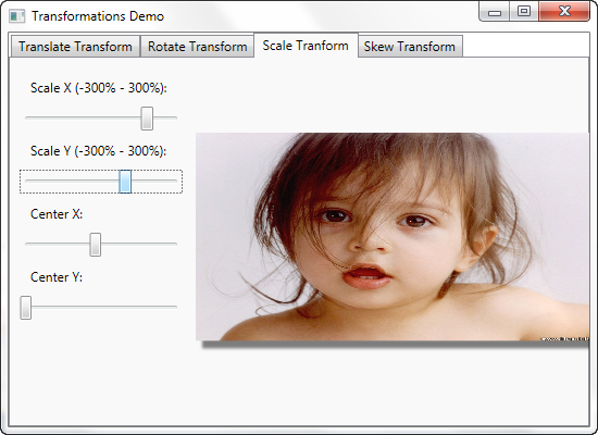 WPF - Scale Transform