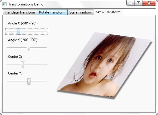 WPF - Skew Transform