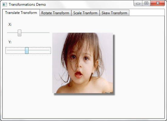 WPF Translate Transfom