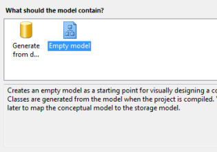 Create Empty Entity Data Model