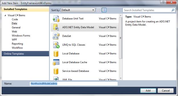 Insert ADO,NET Entity Data Model