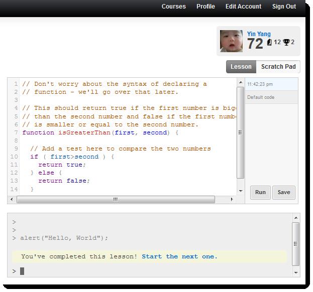 Codecademy Javascript Course