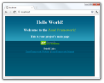 HelloWorld Zend Framework Index