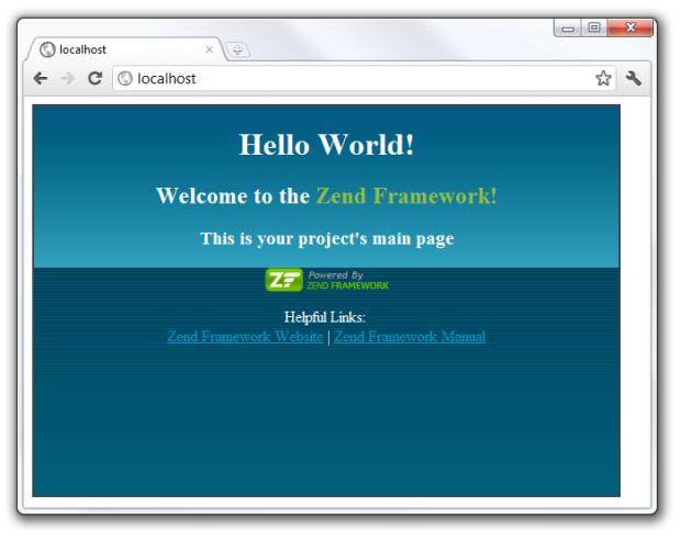 HelloWorld Zend Framework Index