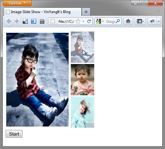 jQuery - Image Slide Show