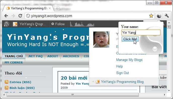 Viết Extension cho Google Chrome – Đơn giản ... và phức tạp