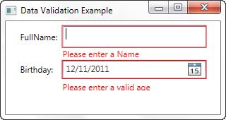 WPF - Data Validation - IDataErrorInfo
