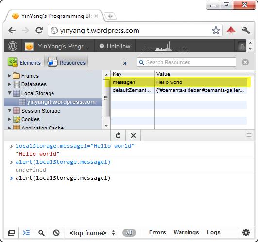Chrome Developer Tools Console