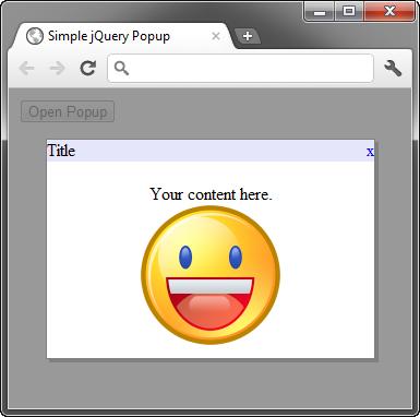 jQuery – Tạo cửa sổ popup đơngiản