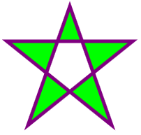 SVG -  five-pointed star