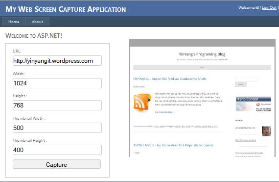 ASP.NET - Web Screen Capture Demo